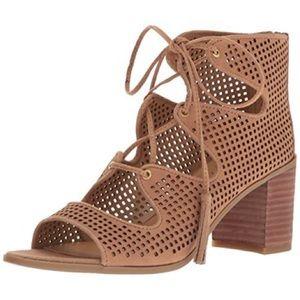Franco Sarto Honolulu Lace Up Sandal Stacked Heel